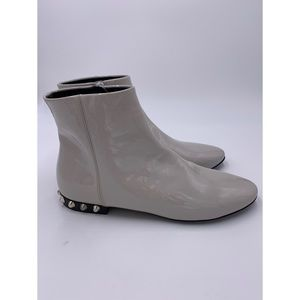 Balenciaga Studded Patent Leather Ankle Booties